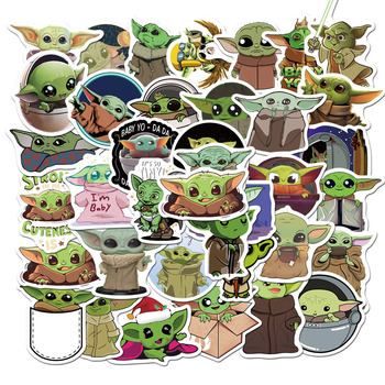 50 pcs/Pack Baby Yoda Star Wars Stickers Car Phone Travel Luggage Trolley Laptop Computer Sticker Toy image