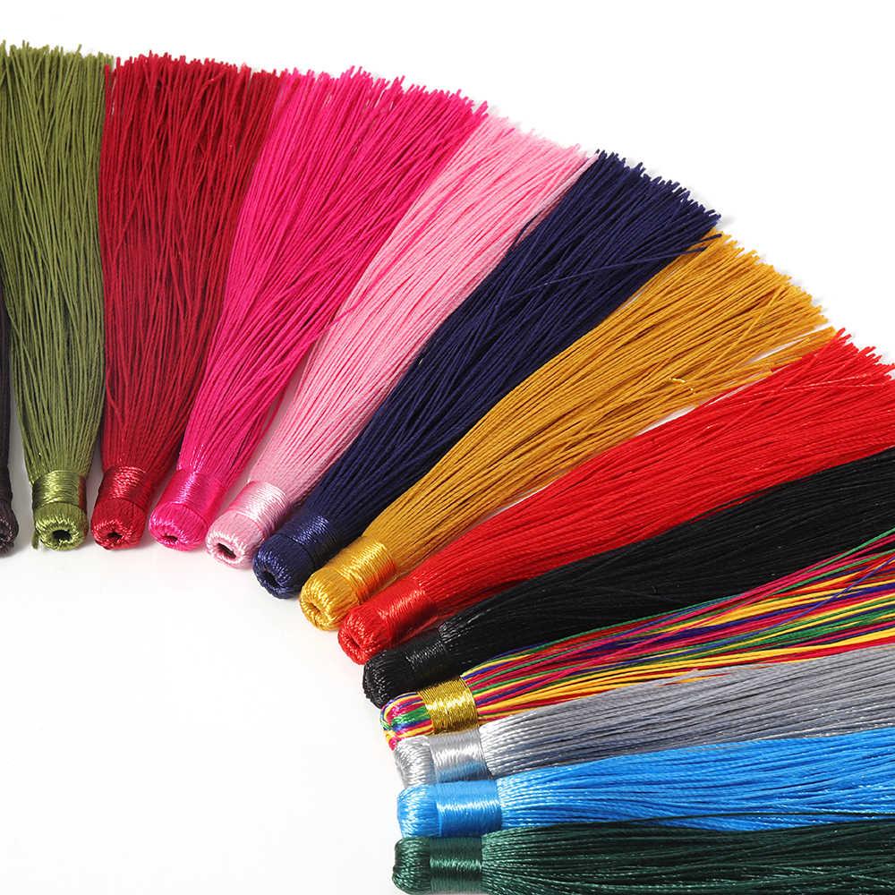 10pcs 22 สี 12 ซม.Tasselsผ้าไหมสำหรับDIYเครื่องประดับทำผลHandmade Tassels Fringจี้ผู้ผลิตFringeต่างหูcharm