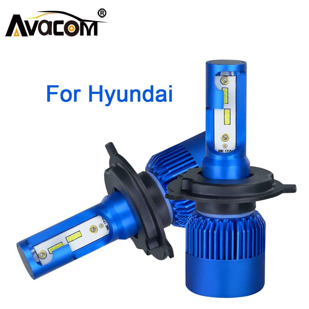 Yeni gelenler araba ışıkları ampuller LED H4 H7 H11 CSP LED H1 H3 farlar 12V Led ışık Hyundai için tucson/i30/IX35/i20/Santa Fe