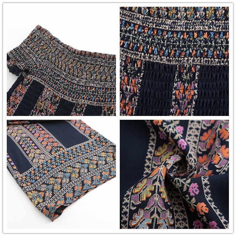Комбинезоны женские летние 2019 свободные широкие хлопковые комбинезоны Цельный Наряд комбинезон с открытыми плечами плюс размер одежда 81575A