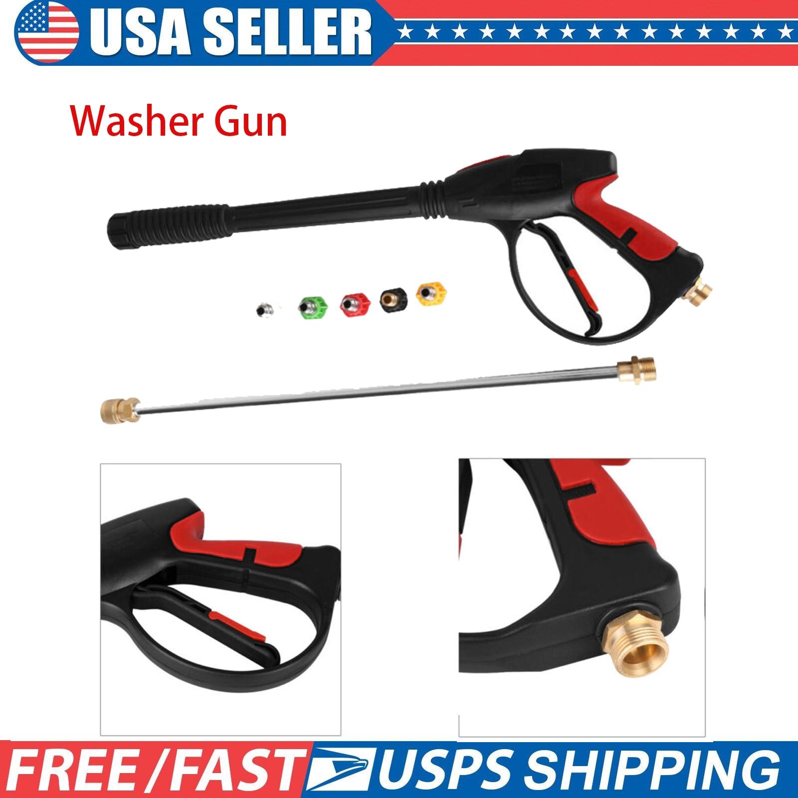Max 4000 PSI Hochdruck Reiniger 1/2 zoll BSP Gewinde Washer Spray Garten Wasser Jet Auto Staub Waschen Werkzeug Mit 5 düsen