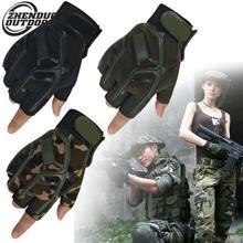 Breathable Anti-slip Military Half Finger Tactical Gloves Unisex