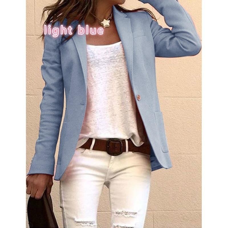 Blazer Winter Clothes Women Korean Style Woman Jacket Female Full Pockets Casual Blazers Pink Plus Korean Fall 2018
