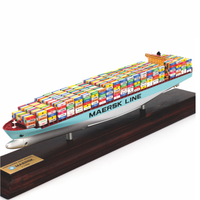 Single Tower Double Tower Color 35cm Maersk Shipping Container Ship Model