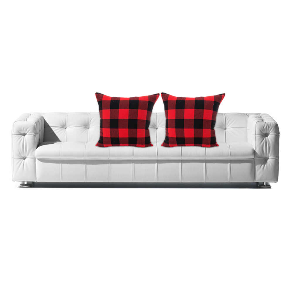 2 Pcs 45X45cm Polyester Plaid Pillow Cover Sofa Gooi Kussenhoes Throw Cushion Cover Decoration Vrolijk Kerstfeest Gift New
