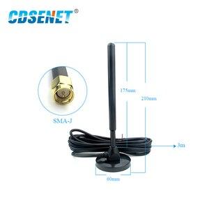 Image 2 - SMA J de antena Wifi de 433MHz, alimentador 3m con Base magnética de 5dbi de alta ganancia, Cable externo con ventosa, antena Wifi omnidireccional, Aeria