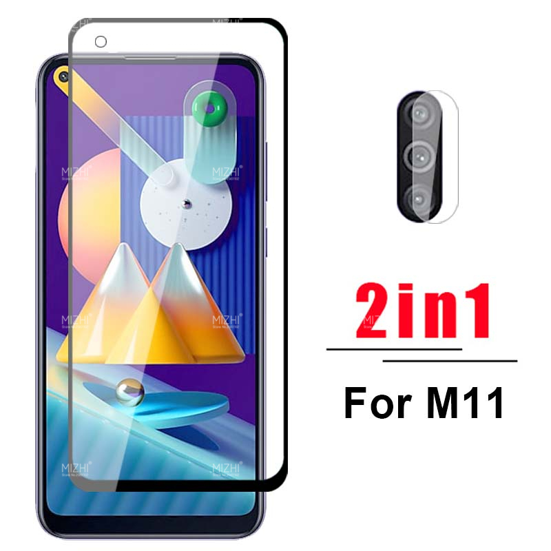 2 In 1 Camera Protector For Samsung Galaxy M11 Protective Glass For Samsung M11 M 11 Sumsung Sm-M115f Safety Glasses Film 6.4''