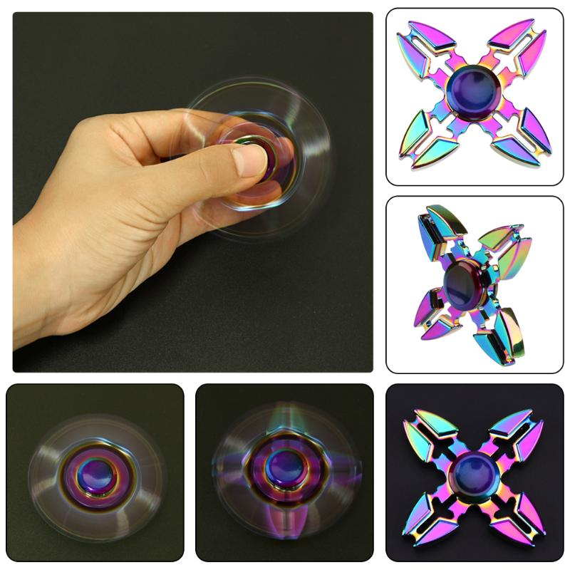 EDC Hand Spinner Metal Alloy Gyro Four Fidget Spinners For ADHD Autism Stress Reliever Toy For Kids Fingertip Gyro Dropshipping