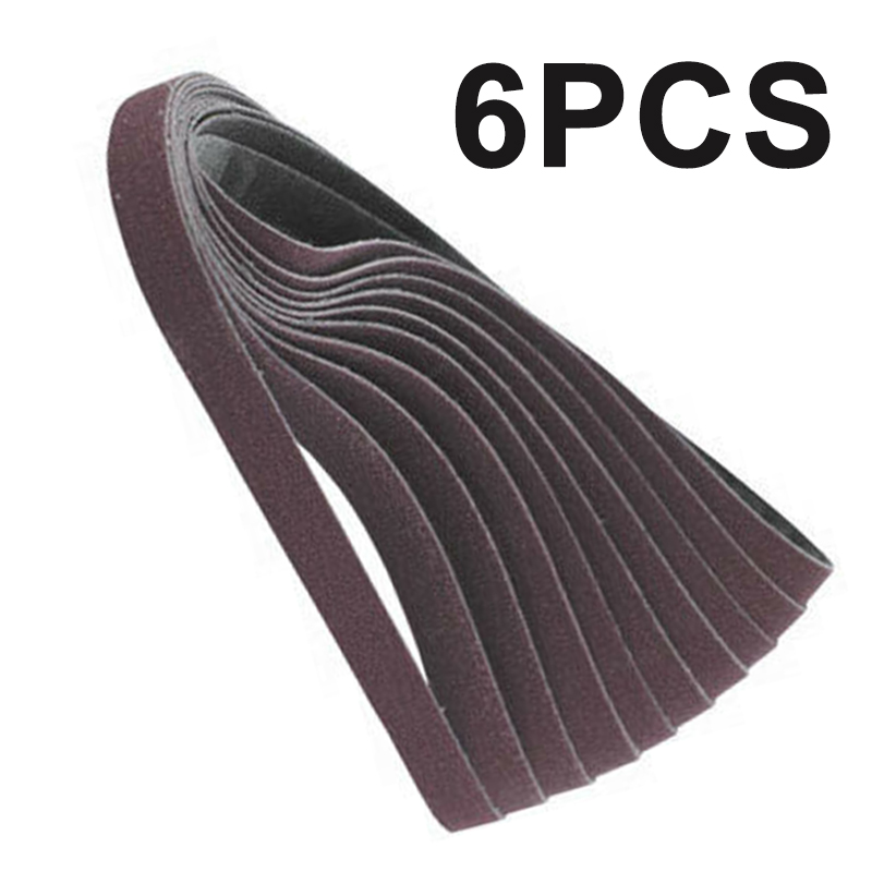 6pcs/Set 2x72 Inches Metal Sanding Belts Aluminum Oxide 36/60/80Grit Per 2pcs Portable Sander Bench Sander Sanding Belt Sander