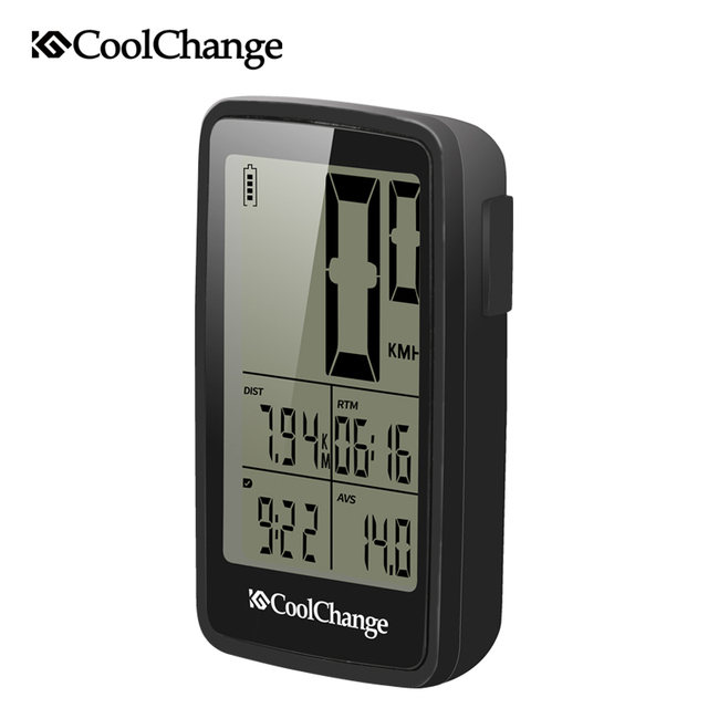 CoolChange Bicycle Computer Rainproof Wired and Wireless Cycling Computer Speedometer Odometer USB Rechargable MTB Bike Computer