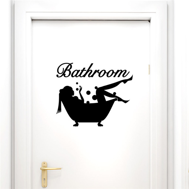Bathing Bathroom Wall Sticker