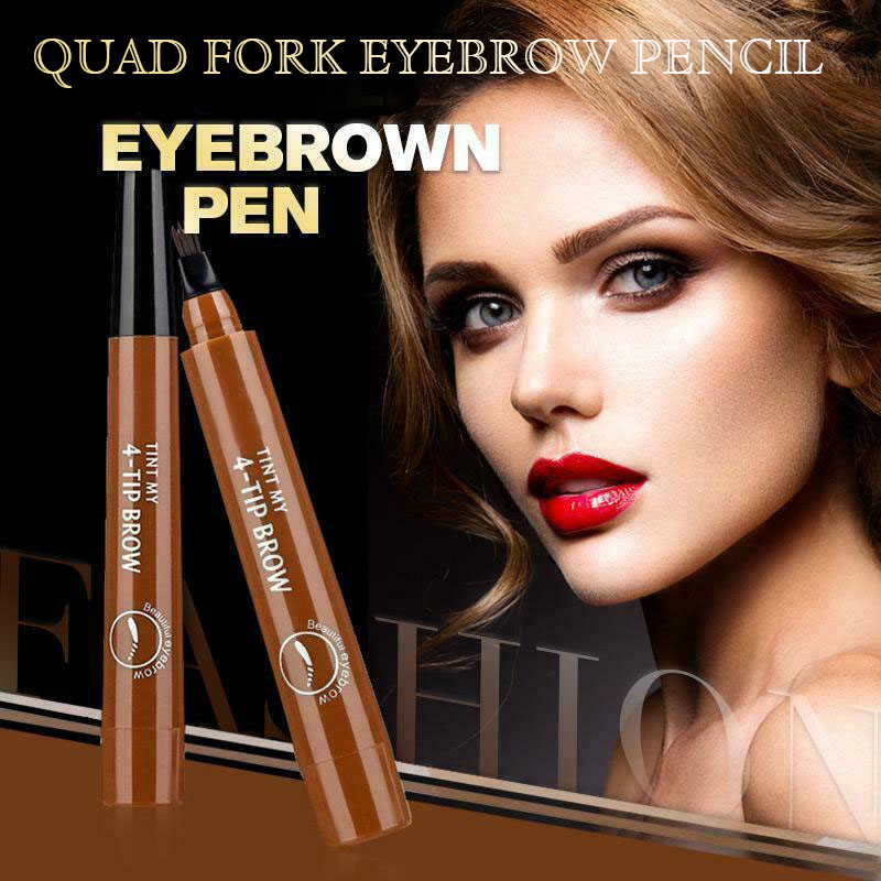 4 Points Eyebrown Pen Waterproof Fork Tip Long Last Sweat-proof Eyebrow Pen Pencil HJL2019
