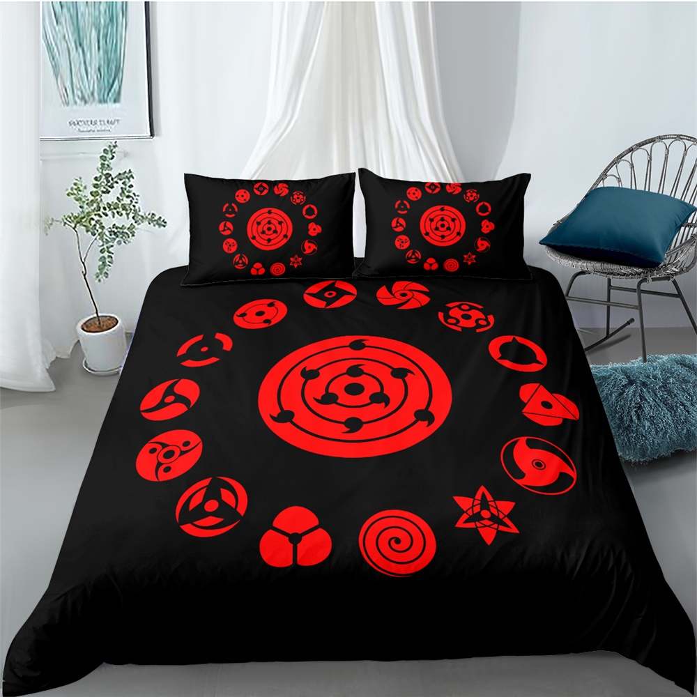 Comic Naruto Bedding Set Bedroom Decor Hypoallergenic Quilt Cover Doona 1PC Duvet Cover With Pillowcase Dropship