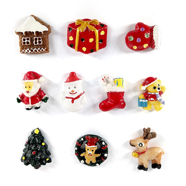 10pcs resin fridge magnets souveni