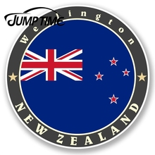 Jump Time New Zealand Vinyl Sticker IPad Laptop Flag Luggage Travel TagWaterproo