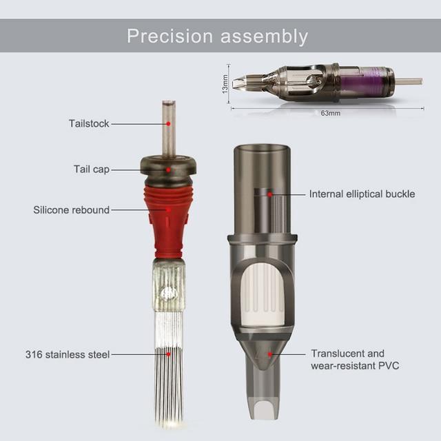 Biomaser Cartridge Tattoo Needles Disposable Makeup Microblading Cartridges Eyebrow Tattoo Pen Machine Supply 5/7/9/11/13/15 RM 2