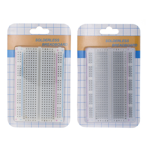 Mini bread board/breadboard 8.5cm x 5.5cm 400 holes Transparent/White DIY Electronic experimental Universal PCB(China)