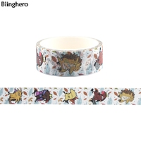 Blinghero The Angry Beaver 15mmX5m Cartoon Tape Stickers DIY Adhesive Tapes Funny Stationery Tapes Decal Masking Tape BH0138