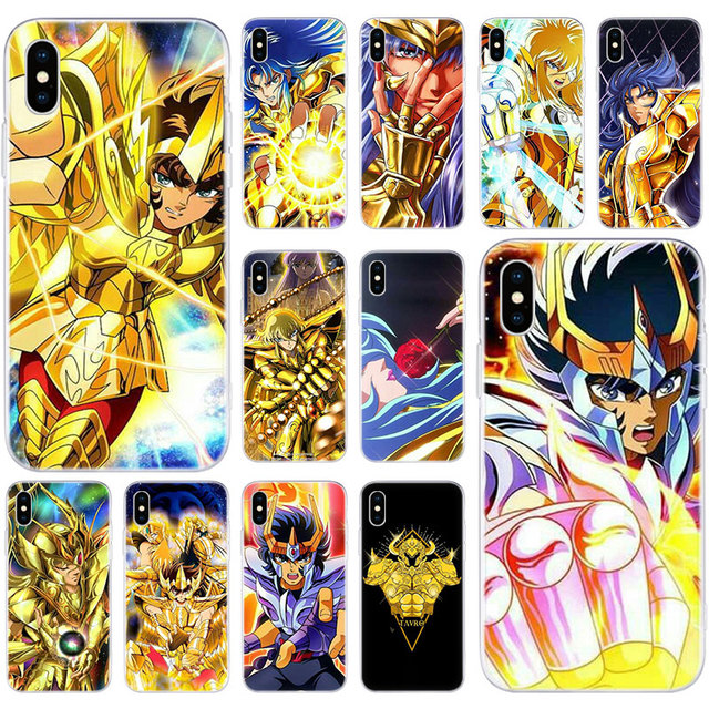 Hot Saint Seiya Anime Soft Silicone Case for Apple iPhone 11 Pro XS MAX X XR 7 8 Plus 6 6s Plus 5 5S SE Fashion Cover