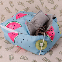 Pet Winter Warm Cotton Nest Flannel Watermelon Printed Hammock Guinea Pig Rabbit Hammock Cage Pet Supplies(China)