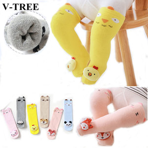 Winter Thicken Baby Stocking Newborn Baby Girls Tights With Ears Cotton Knee High Long Tube Tights 3D Cartoon Infant Pantyhose