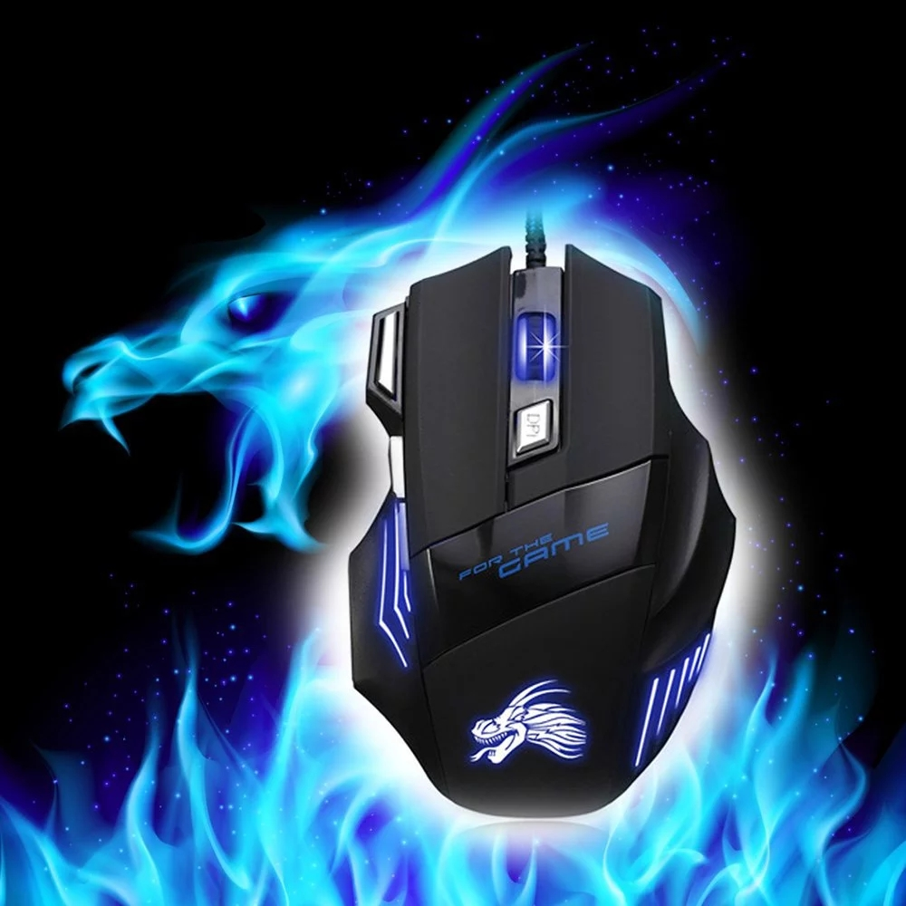Professional USB Wired Gaming Computer Mouse 5500 DPI Optical LED Lighting Mouse Gamer for Computer Overwatch Pubg Dota 2 image