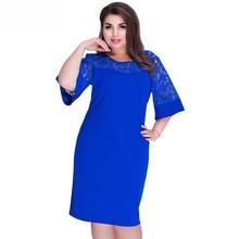 Женские платья большого размера s, кружевное лоскутное платье для женщин размера плюс, платье-туника, лето, женские офисные платья, одежда