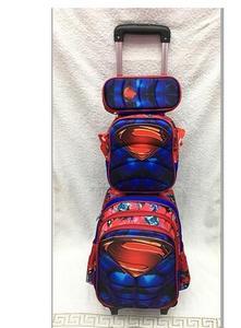Image 4 - أطفال حقائب مدرسية ترولي بعجلات مجموعة حقيبة ظهر الأطفال على ظهره مع عجلات عربة حقيبة للمدرسة المتداول حقيبة الظهر لفتاة