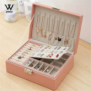 Jewelry-Box Storage-Box Necklace Earring-Ring Gifts Multifunction Travel Women New High-Capacity