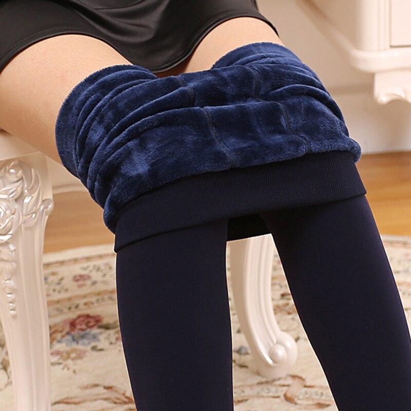 ATHVOTAR S-XL 8 Colors Winter Leggings Women's Warm Leggings High Waist Thick Velvet Legging Solid All-match Leggings Women 4