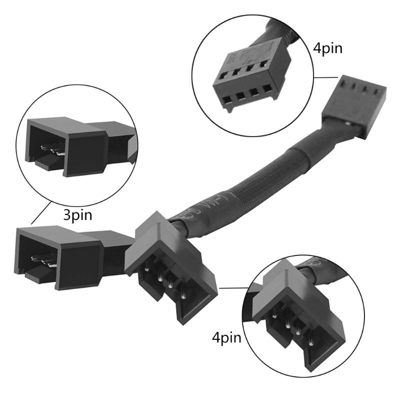 CB-Y4P <font><b>4Pin</b></font> <font><b>PWM</b></font> Y <font><b>Splitter</b></font> Fan Cable 1x4pin to 2x4pin Expansion Cable Adapter image
