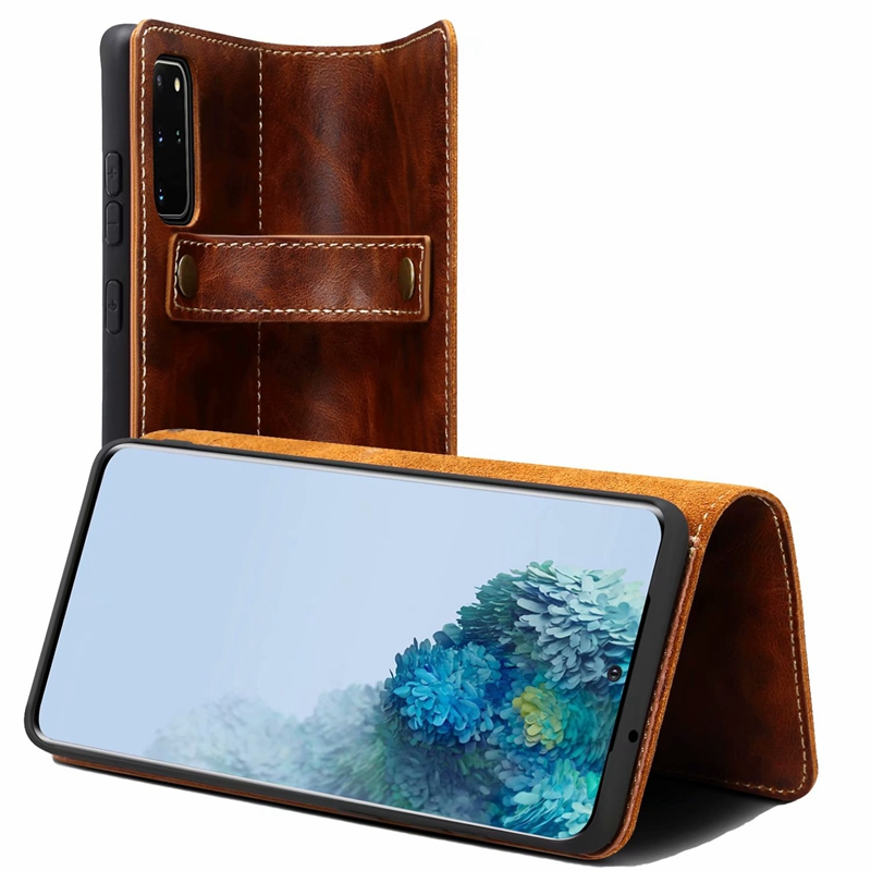 Retro Luxury Genuine Leather Holster Case for Samsung Galaxy S20 Ultra