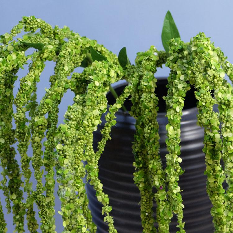 Flone 8 Branch Artificial Lover Fruit Green Amaranthus Artificial Flower Green Plant Wedding Home DIY Decoration Foam Flowers (12)