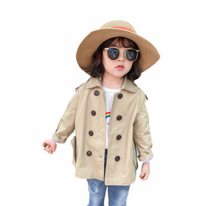 2020 moda infantil do bebê da criança meninas meninos crianças jaqueta casaco trench casaco marrom primavera outono jaqueta de poeira