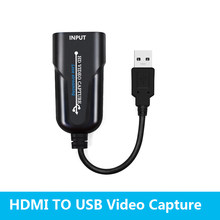 Hdmi para usb captura de vídeo 1080 p hd placa de captura de vídeo para tv pc ps4 jogo de fluxo ao vivo para windows lista/7/8/10