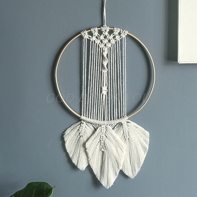 Macrame Woven Wall Hanging Tapestry Handmade Boho Chic Bohemian Dorm Home Decor