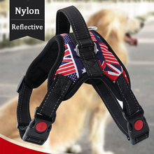 Nylon Dog Harness Vest Collar Personalized and Leash Set Reflective 3M Material  for Small Medium Large