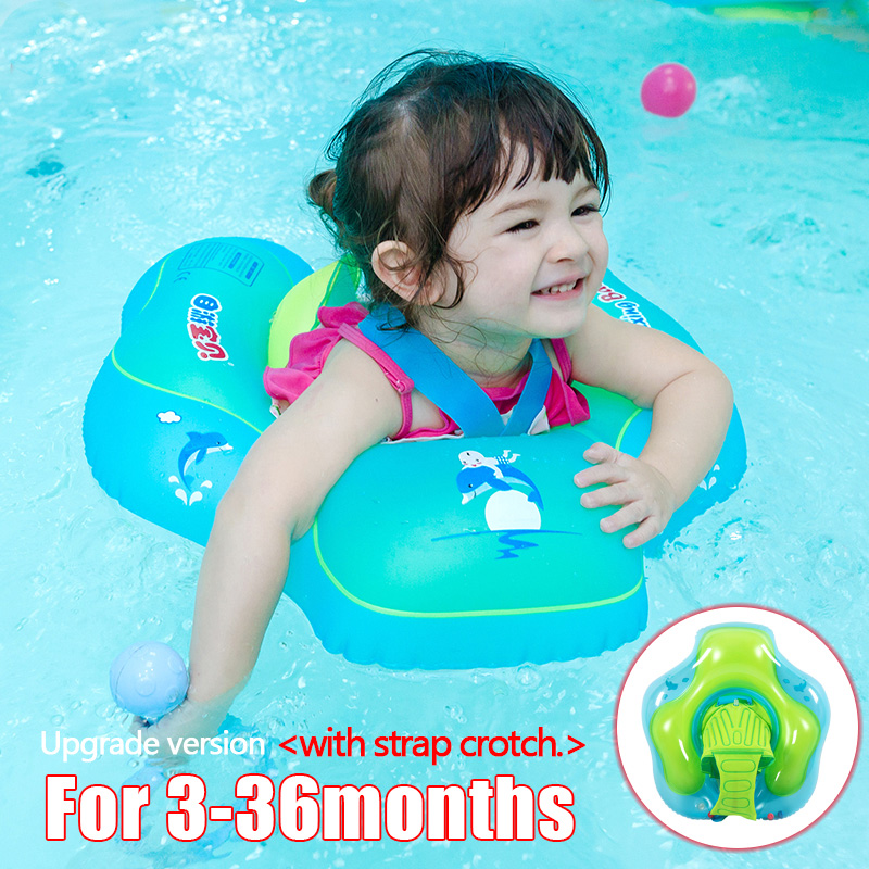 2020 Inflatable Baby Swimming Ring Pool Float Safety Inflatable Circle Swim Kids Water Bed Pool Toys For Children Below 3 Years