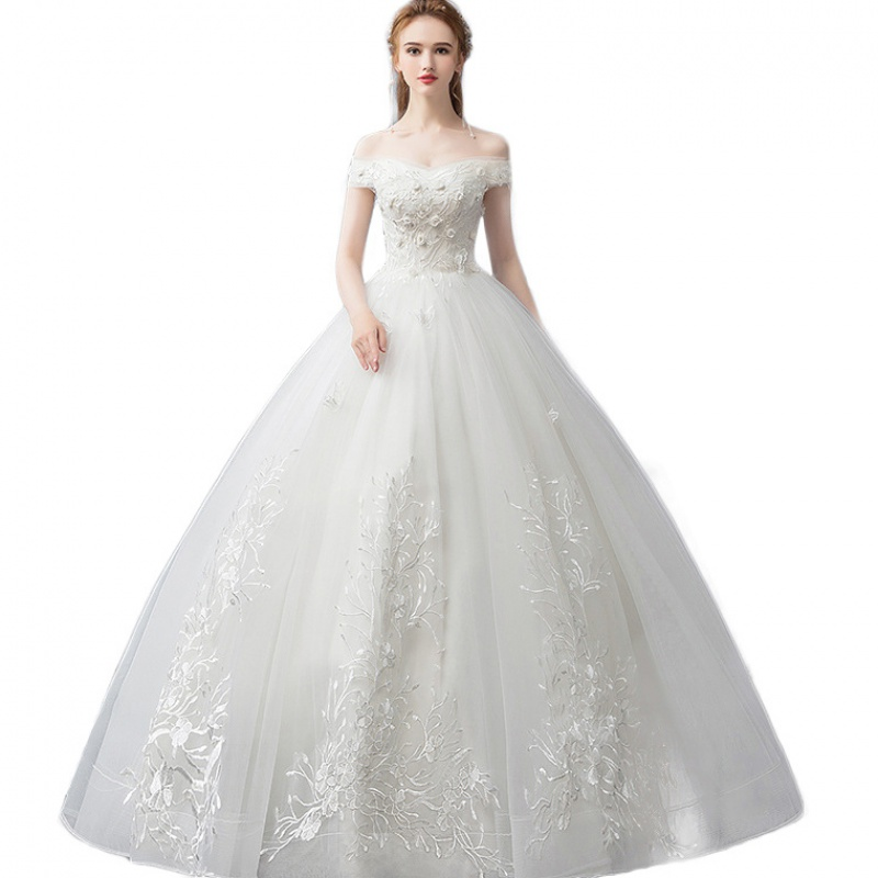 LPTUTTI Embroidery CRYSTAL New Plus Size Princess Bridal Marriage Gown Bride Simple Party Events Long Luxury Wedding Dresses