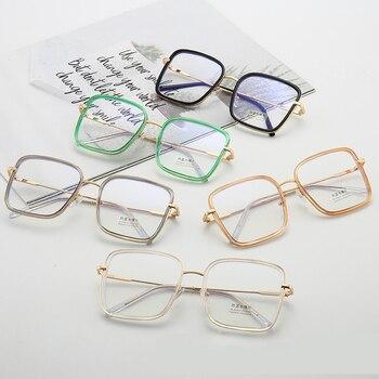 Big Frame Square Anti-blue Light Glasses Frame Oversized Computer Eyewear Frame For Women&Men Square Optical Glasses Eyeglasses 6