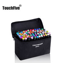 TouchFIVE Art Markers Set Color Pen Animation Sketch Drawing Alcohol Anime Brush Marker Pen (Black body)