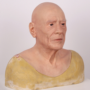 Image 3 - Halloween Old Man Mask Realistic Silicone Masquerade Full Head Tricky Props Drag Queen