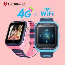 LEMFO Kinder Smart Uhr SOS Anti-verloren Baby 4G SIM Karte GPS WIFI Anrufen Lage LBS Tracking Smartwatch