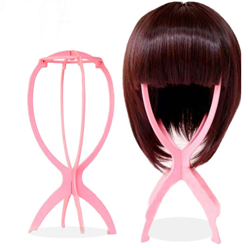 Ajustable Wig Stands Colorful Wig Head Holders Hat Display Mannequin Portable Wig Stands Styling Accessories