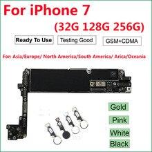 Pour iPhone 7 carte mère avec/sans identification tactile, 100% carte mère iCloud débloqué dorigine (A1660,A1778) 4G GSM ,32GB 128GB