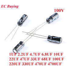 10pz Electrolytic Capacitor 4,7uf 100v Vertical 105 ° 5x11mm