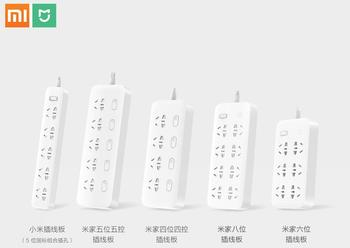 Original Xiaomi Mijia no usb Power Strip 3 6 8 Ports Plug Socket Power on/off 2500W 10A overload protection for office mi home