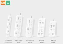 Xiaomi Mijia no usb Power Strip 3 6 8 Ports Plug Socket Power on/off 2500W 10A 250v overload protection for office home mihome