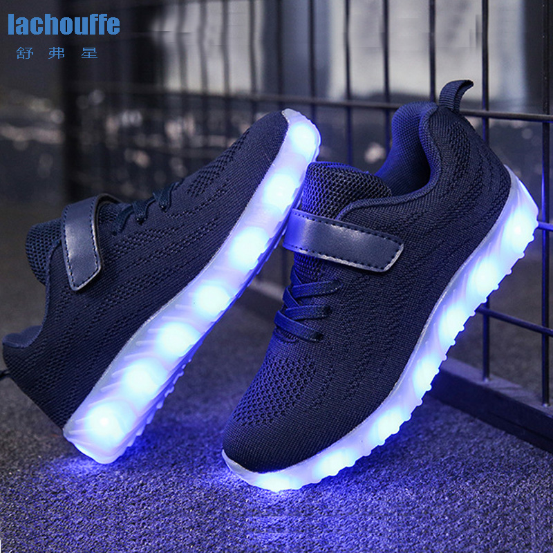 Kids Sneakers Running/basketball  USB Charge LED Shoes for Boys /girls/children Liminous Baby Mesh Sport Boy Led Light Sneaker|Basketball Shoes| |  - title=
