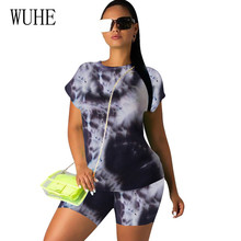 WUHE Fashion Womens Contrast Color Two Pieces Sets Sexy Casual Short Sleeve Jumpsuits Summer Outfits Plus Size XXL